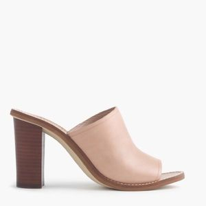 J Crew leather Marlow Mules, tan, size 9.